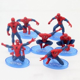 image of Spiderman Cake Topper x 7 Pieces
