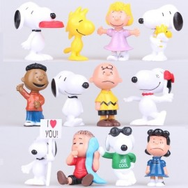 image of Snoopy and The Peanuts Gang Cake Topper x 12 pieces