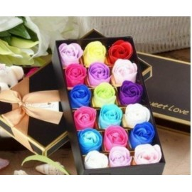 image of Soap Flowers Gift Box - 18 pieces