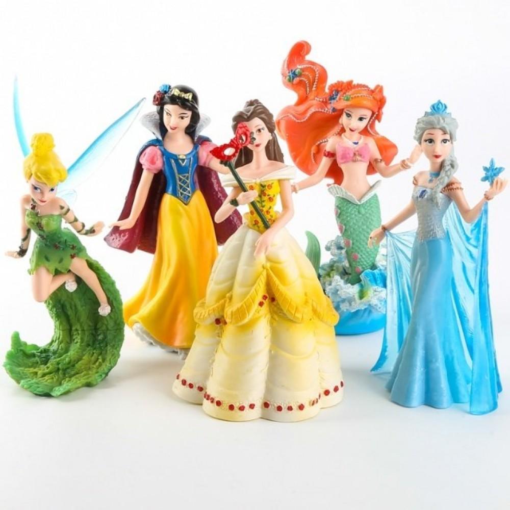 5 IN 1 disney Princess Figurine / Cake Topper frozen elsa snow white ...