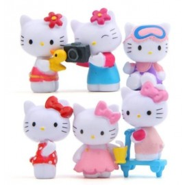 image of Hello Kitty Camera Figurine Set x 6 pieces