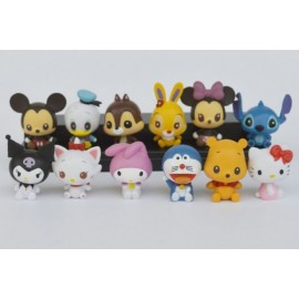 image of Disney and Sanrio Gang Figurine Set x 12 pieces