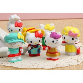 image of Hello Kitty in Hats Figurine Set x 6 pieces