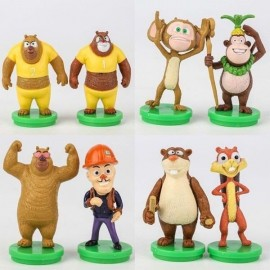 image of Boonie Bears Figurine Set x 8 Pieces