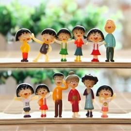 image of Sakura Momoko and Family Figurine Set x 12 pieces