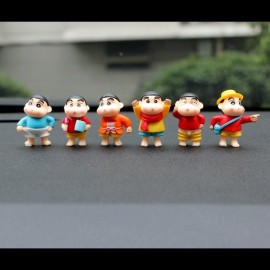 image of Shin Chan Swimming Figurine Set x 6 pieces