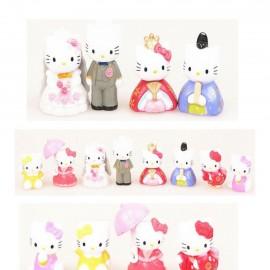 image of Hello Kitty Wedding Figurine Set x 8 pieces