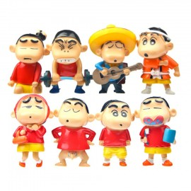 image of Shin Chan Musician Figurine Set x 8 pieces
