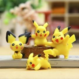 image of Mini Pikachu Figurine Set x 4 pieces