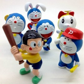 image of Doraemon and Nobita Figurine Set x 6 pieces