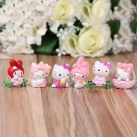image of Pinky Hello Kitty Figurine Set x 6 pieces