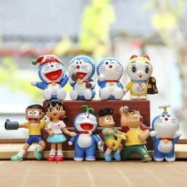 image of Doraemon and Friends Figurine Set x 10 pieces