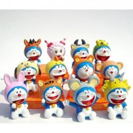 image of Doraemon in Animal Costumes Figurine Set x 12 pieces