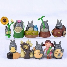 image of Totoro and Friends Figurine Set x 10 pieces