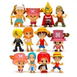 image of One Piece Figurine Set x 12 pieces