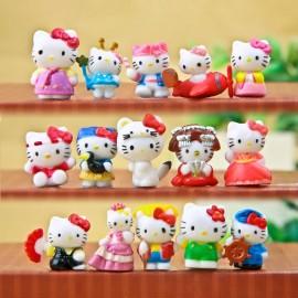 image of Hello Kitty Airplane Figurine Set x 16 pieces
