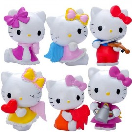 image of Hello Kitty Figurine Set x 6 pieces