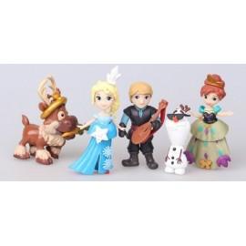 image of Disney Frozen Version Q Figurine Set x 5 pieces