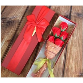 image of Soap Flower with Gift Box - 5 Flowers
