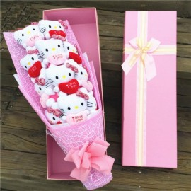 image of Hello Kitty Gift Pink Bouquet - 11 pieces
