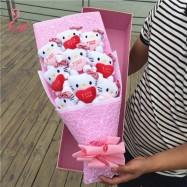 image of Hello Kitty Gift Pink Bouquet - 9 pieces