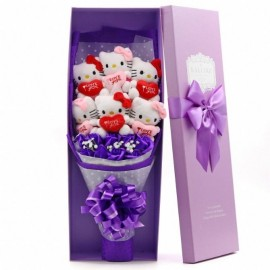 image of Soap Flower With 6 Hello Kitty Gift Box - 6 Flowers