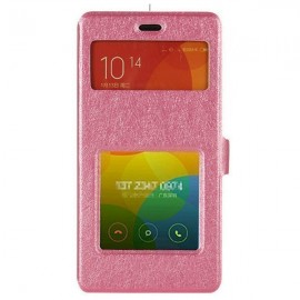 image of Xiaomi Hongmi 2 Leather Case with Diamond Screen Protector - Red Rose