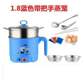 image of 8 in 1 Electric Travelling cartoon Steamboat Cooker 1.8L  - Blue