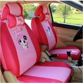 image of Cute Baby Full Set Car Seat Cover Seat with Head Pillow