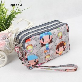 image of Korean 3-Zip Mobile Pouch
