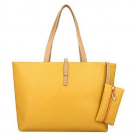 image of Casual Shoulder Tote Bag with Small Pouch