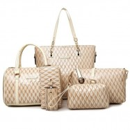 image of 6 in 1 Korea Styles Top Quality Bag Set - Light Brown
