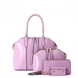 image of 4 In 1 Korean Style Handbag Set -  Purple