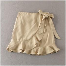 image of * Ready Stock * Khaki Asymmetric Skirt
