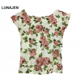 image of * Ready Stock * White English Rose Floral Short Sleeve Top