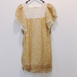 image of * Ready Stock * Light Brown Boho Floral Dress