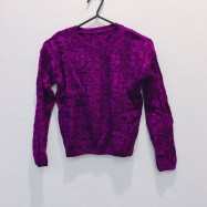 image of * Ready Stock * Purple Knit Long Sleeve Top