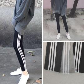 image of * Ready Stock * 3 Stripe Sporty Long Pants Legging