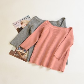 image of * Ready Stock * Lynn 3/4 Sleeve Knit Off Shoulder Top