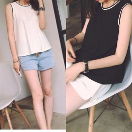image of * Ready Stock * Kristen Sporty Basic Sleeveless Top Tee