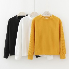 image of * Ready Stock * Basic Minimalist Line Long Sleeve Top