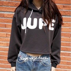 image of * Pre Order * Jupe Black Jumper Hoodie Top