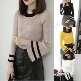 image of Hally Bell Sleeve Sweater Knit Long Sleeve Top