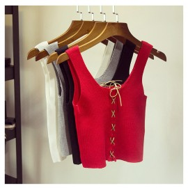 image of * Pre Order * Mable Drawstring Knit Sleeveless Top