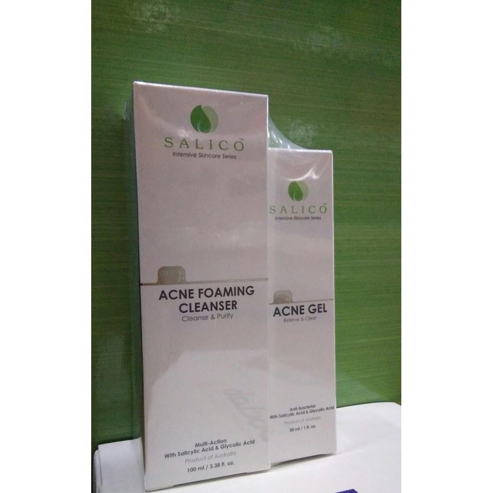 Salico Acne Cleanser (100ml)+Acne Gel (30ml)