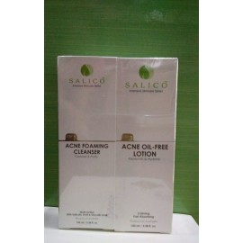 image of Salico Acne Foaming Cleanser (100ml) +Acne Oil-Free Lotion (100ml)