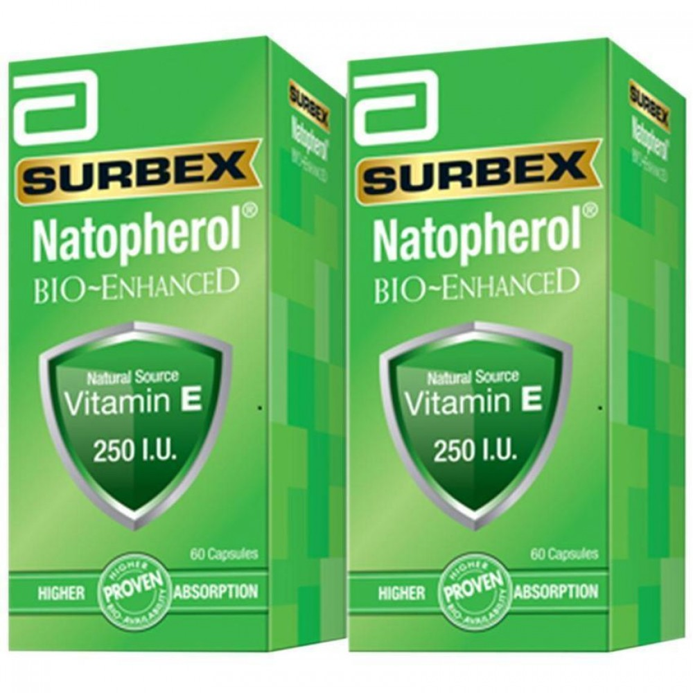 Abbott Surbex Natopherol Bio-Enhanced 250IU (2x60s)
