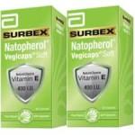 Abbott Surbex Natopherol Vegicaps Soft Vitamin E 400IU (60sx2)