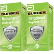 image of Abbott Surbex Natopherol Vegicaps Soft Vitamin E 400IU (60sx2)