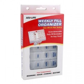 image of Acu-life weekly plus organizer( 28 compartments)